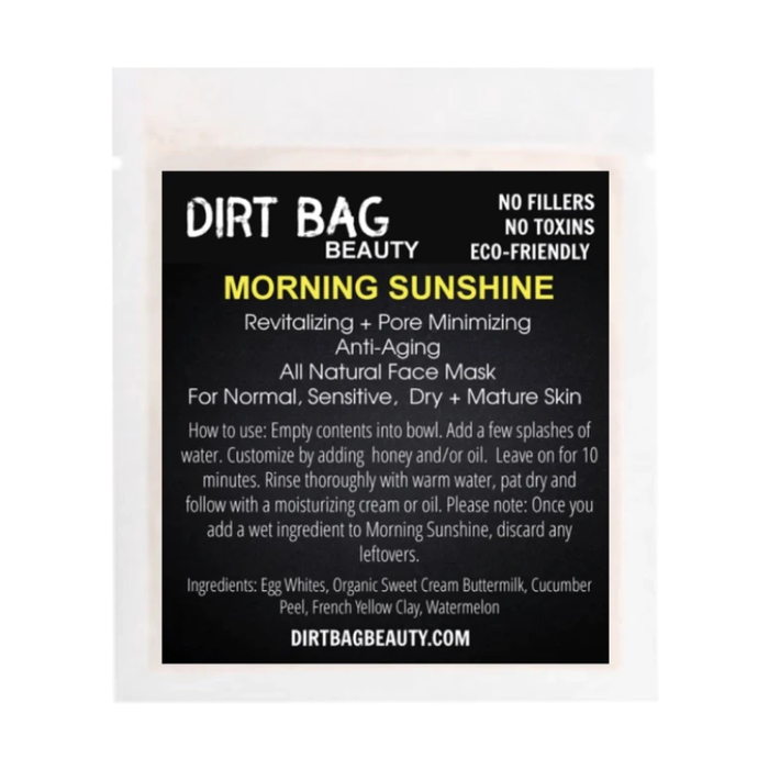 All Natural Facial Mask - Morning Sunshine Single use