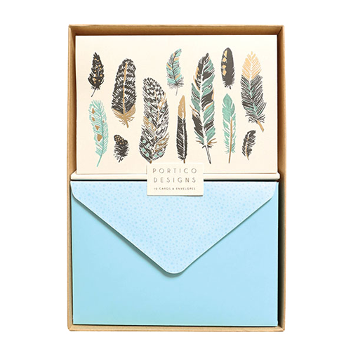 Boxed Notecard Set - Feathers