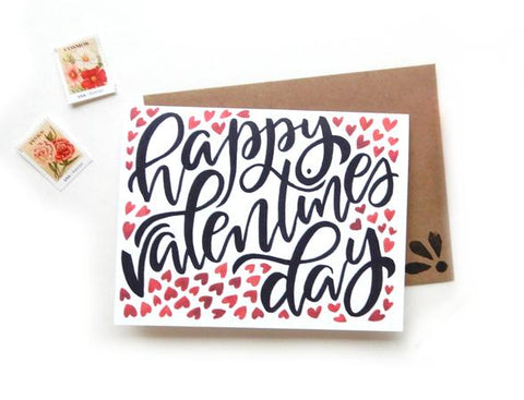 V-Day Hearts Card