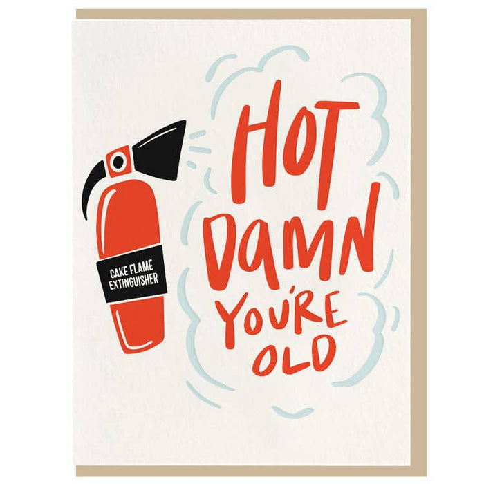 Hot Damn - Letterpress Card