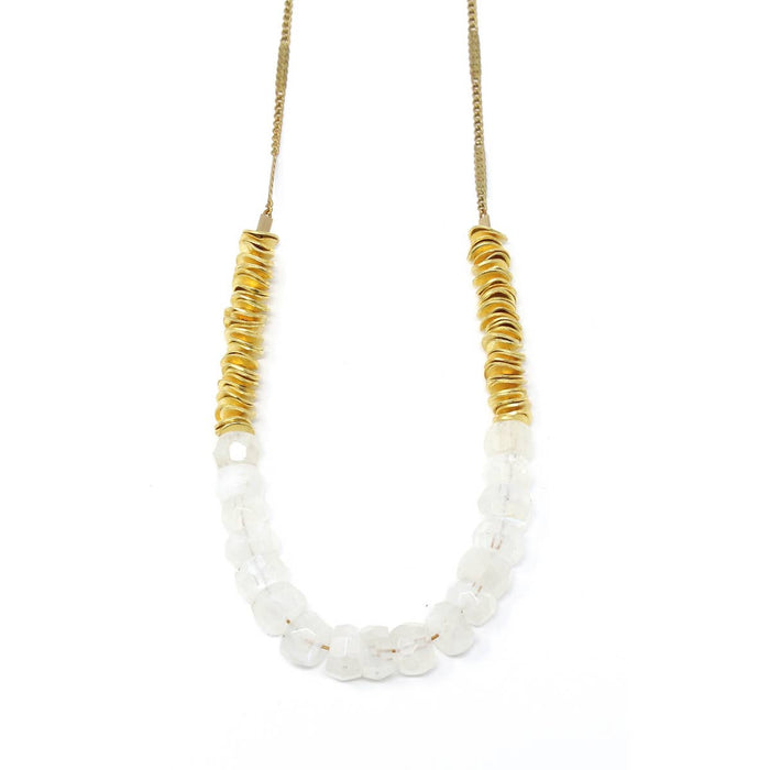 Tide Necklace - White Moonstone