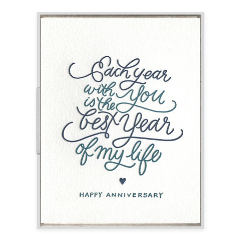 Each Year With You - greeting card
