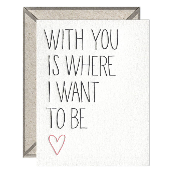 With You - greeting card