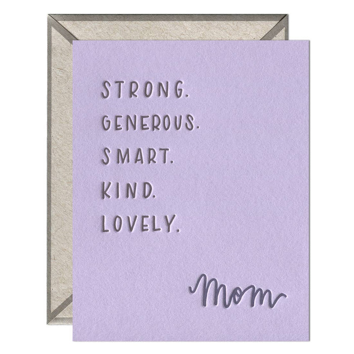 Mom Attributes Card