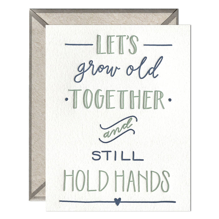 Still Hold Hands - greeting card