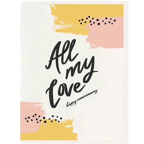 All My Love - Letterpress Card