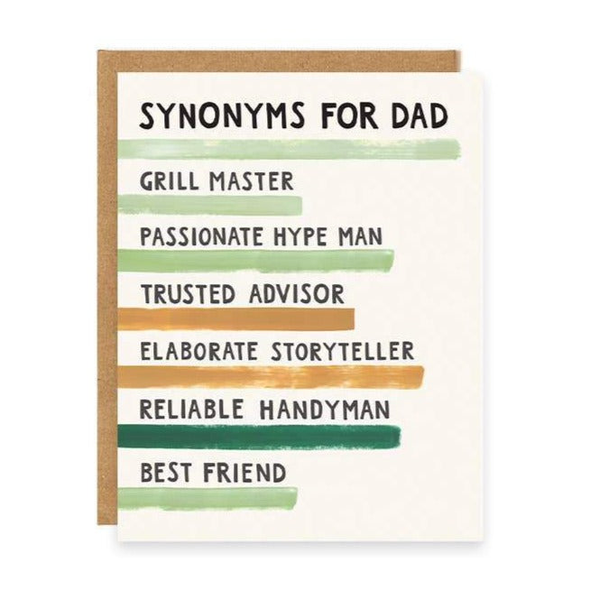 Father's Day Synonyms Greeting Card