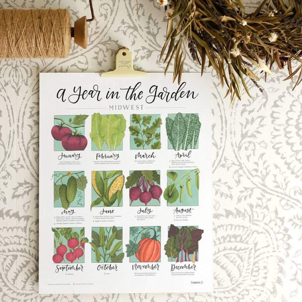 Freckled Hen Garden Calendar - Northwest