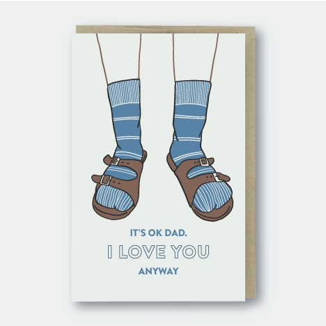 Dad Birkenstocks Card