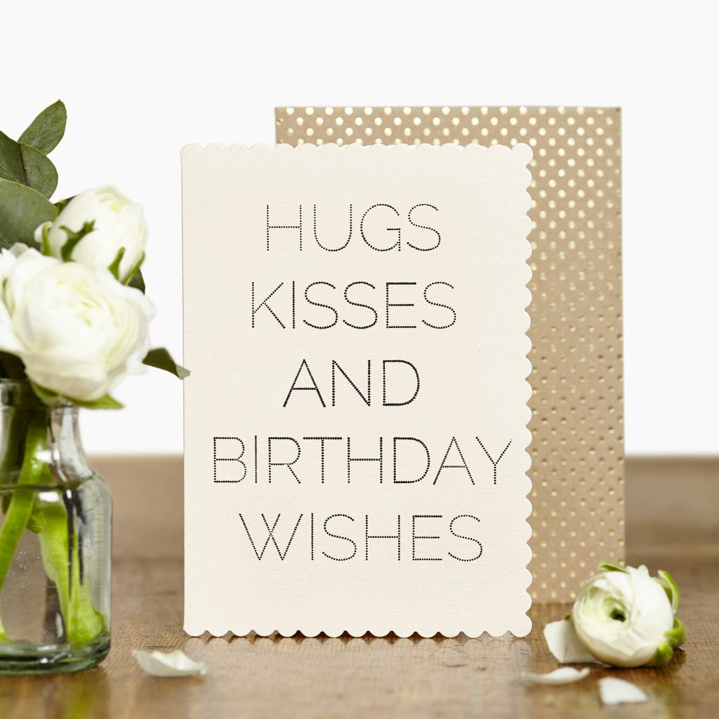 Luxe Hugs and Kisses Card