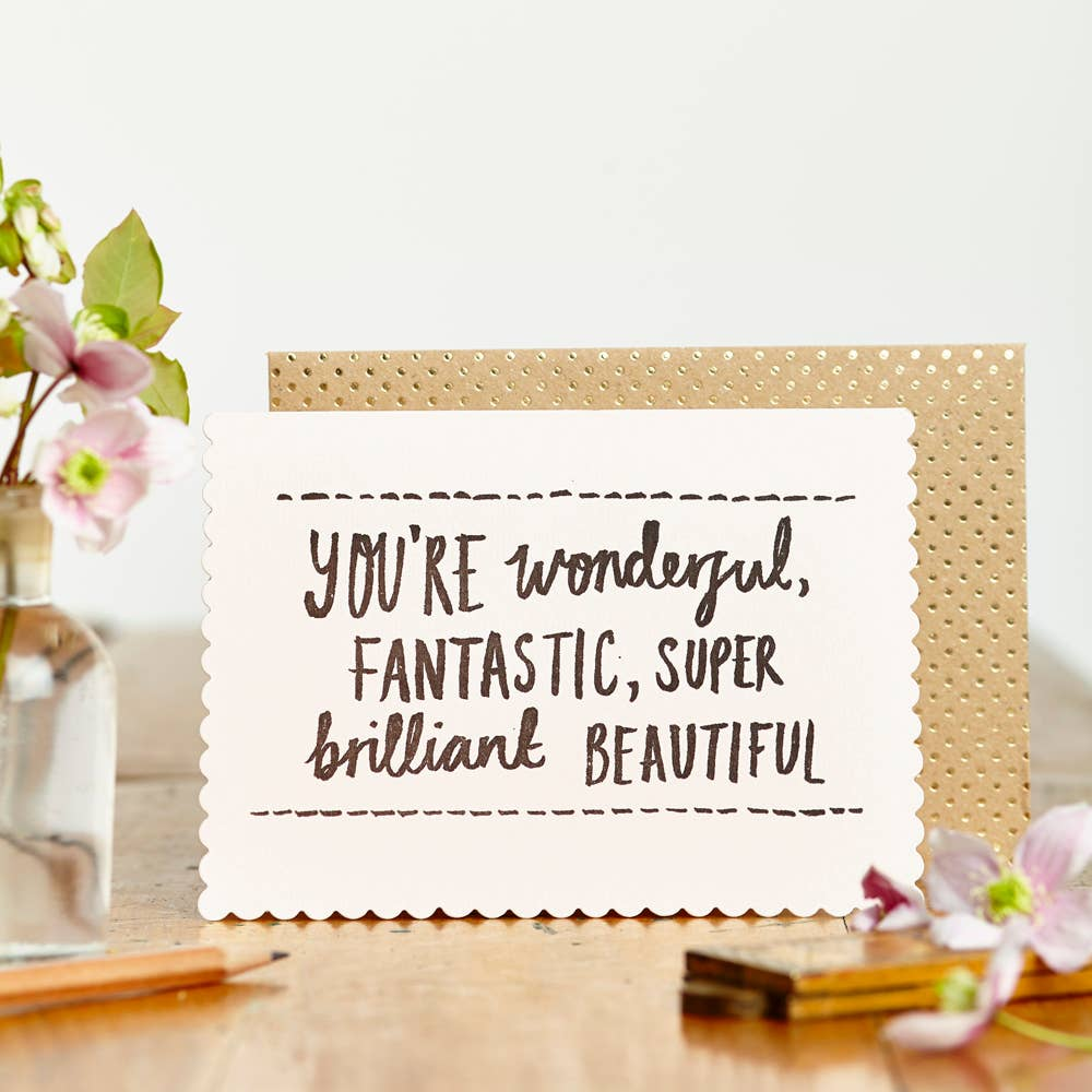 Luxe Wonderful and Fantastic Card