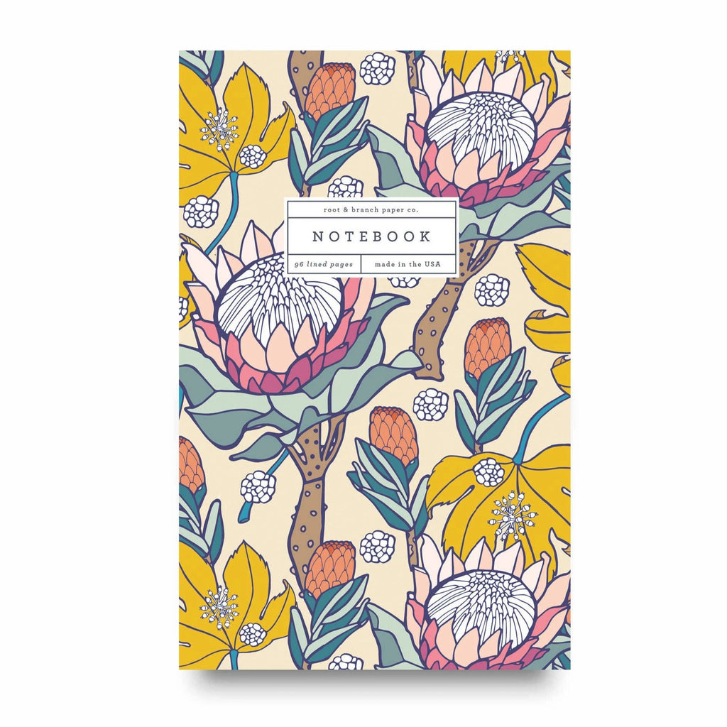 Pink Ice Protea Notebook RB
