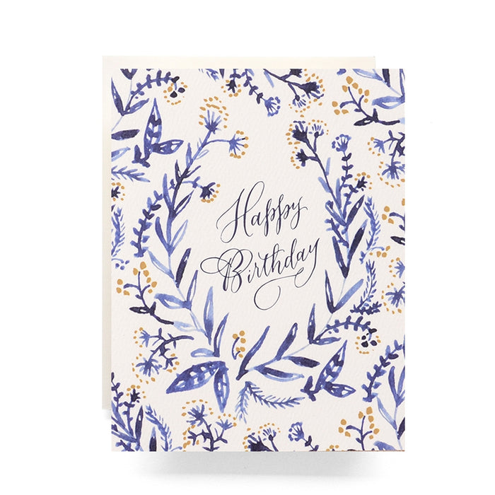Cobalt & Canary Birthday Greeting Card