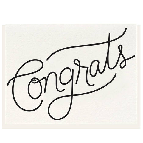 Congrats Greeting - Letterpress Card
