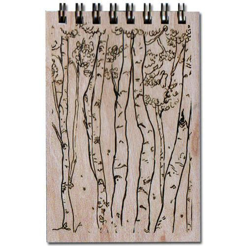 Spitfire Girl - Birch Trees Notepad