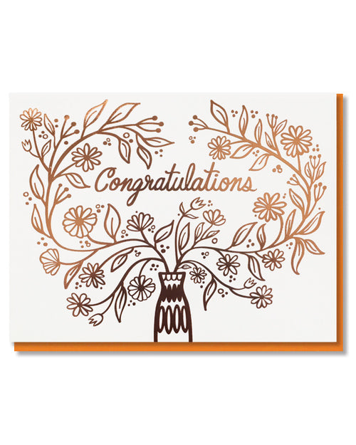 Paper Parasol Press - Congratulations Bouquet Card