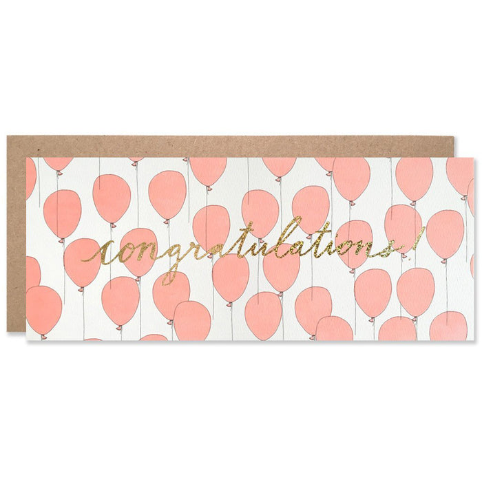 Celebration / Red Balloon Congratulations Card