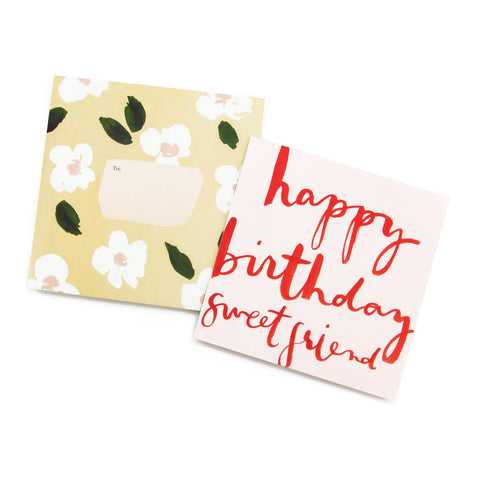 Our Heiday - Happy Birthday Sweet Friend Square Card