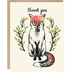 Woodland Fox Thank You