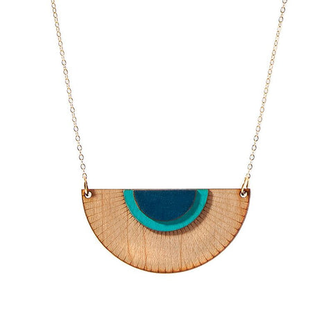 Treeline and Tide - Necklace - Solaris Large Blue
