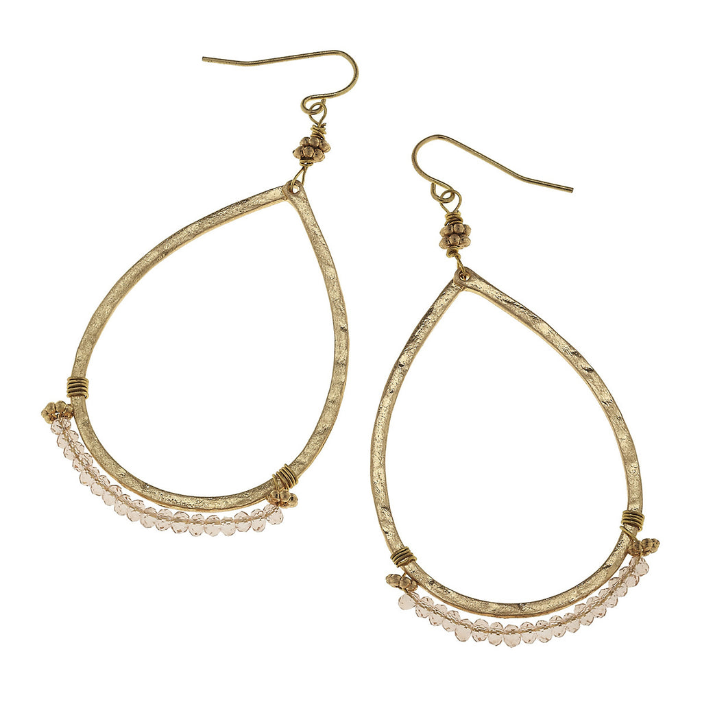 Canvas - Glenna Teardrop Earrings In Platinum Glass