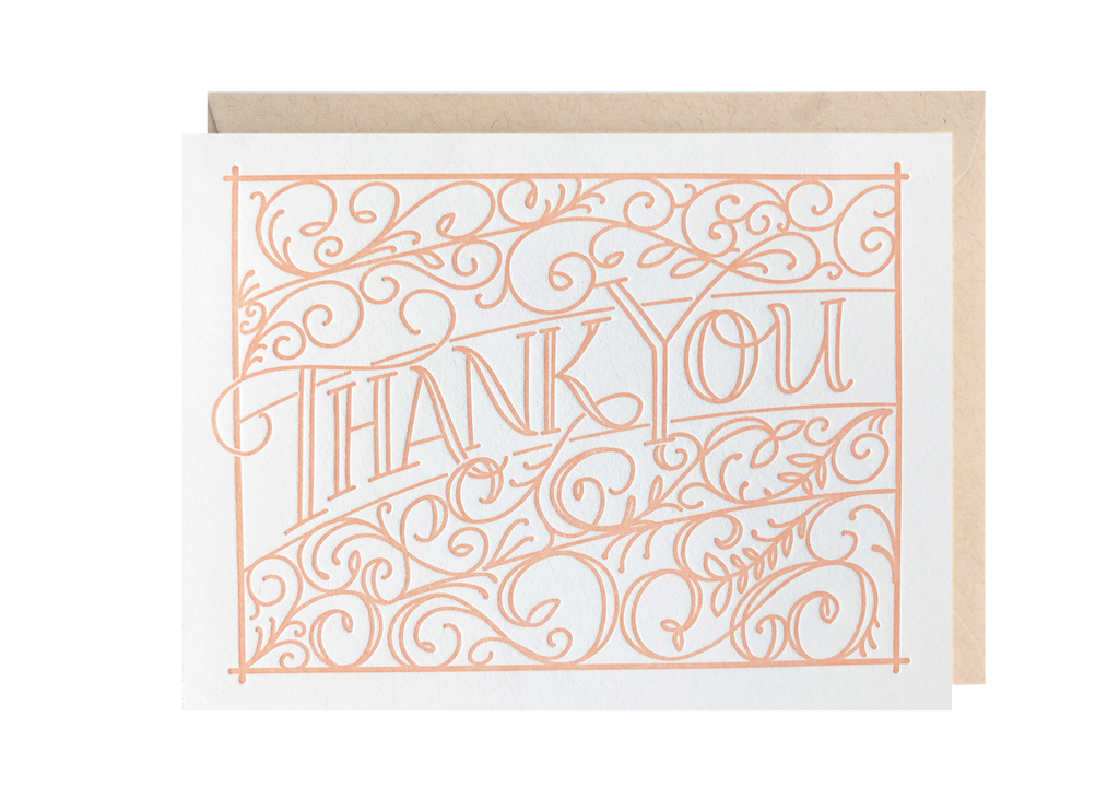 Lionheart Prints - Ironwork Thank You Greeting Card