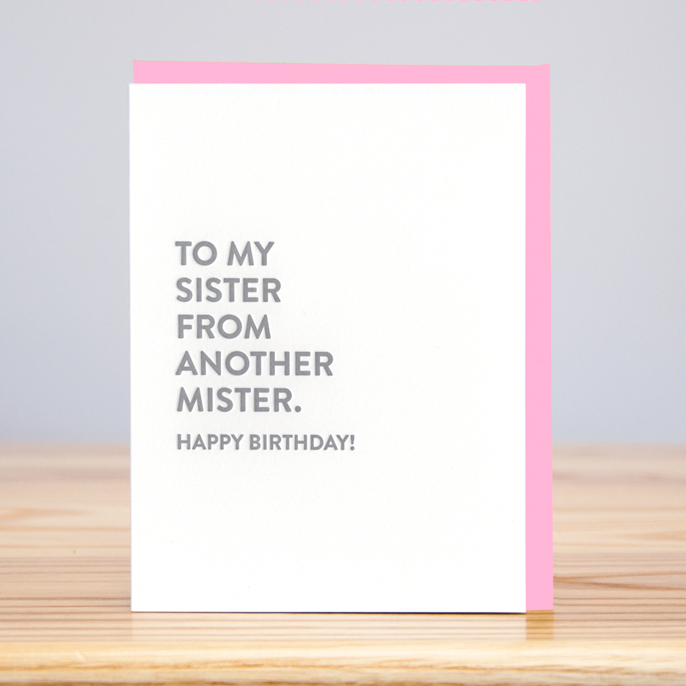 Huckleberry Letterpress - Sister Mister Birthday