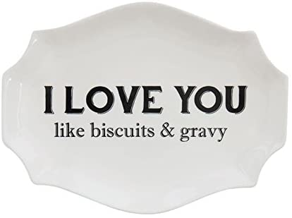 Stoneware Plates with Southern Saying | 2 Styles