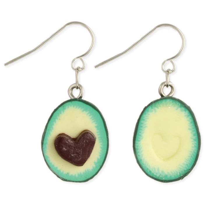 I Heart Avocados Dangle Earrings