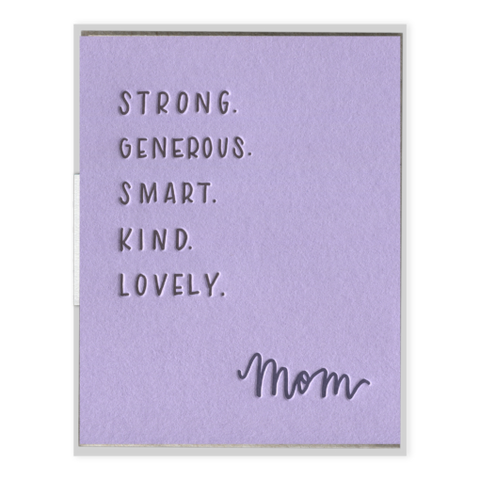 INK MEETS PAPER - Mom Attributes - Greeting Card
