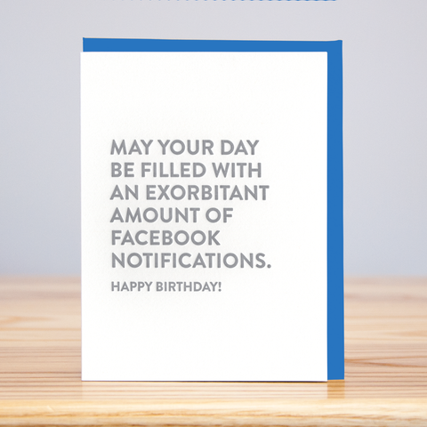 Huckleberry Letterpress - Facebook Notifications Birthday