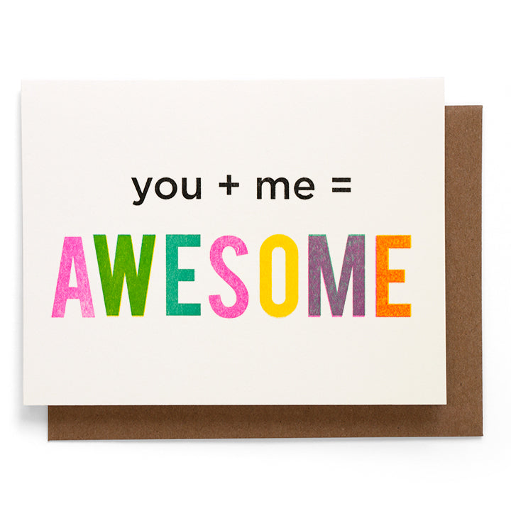 Smarty Pants Paper - You + Me note card