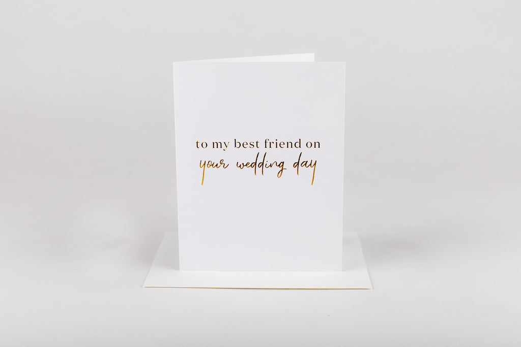 Wrinkle & Crease Paper Products - Best Friend Wedding Day