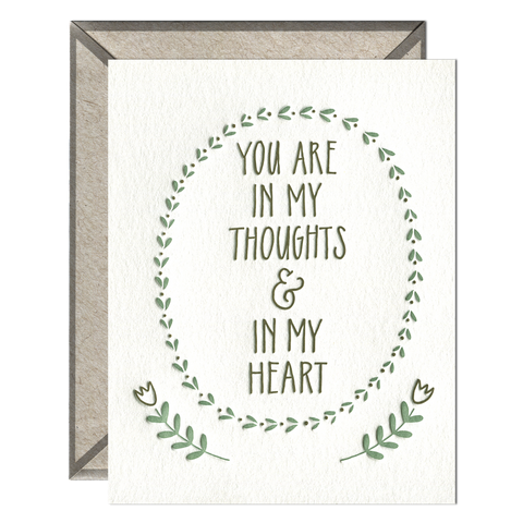 Thoughts and Heart card
