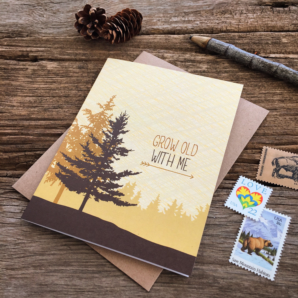 Grow Old Trees Card