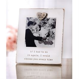 Mr & Mrs Magnetic Wood Frame