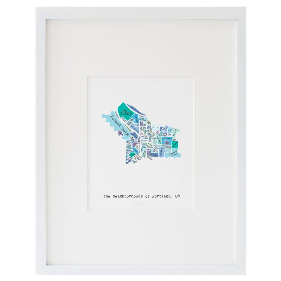 Smudge Ink - Neighborhoods of Portland print