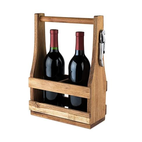 Twine - Country Home: Acacia Wood Wine Caddy by Twine