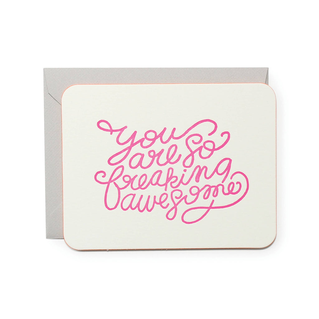 So Freaking Awesome Pink Greeting Card