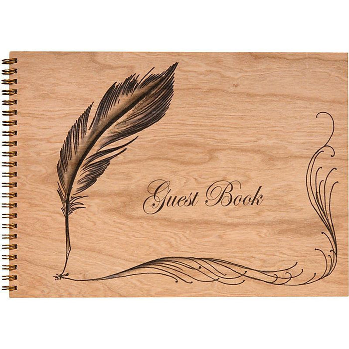 Wood Bound Journal Quill Guest