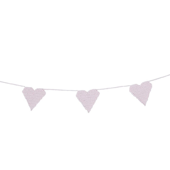 Pink Heart Crochet Garland