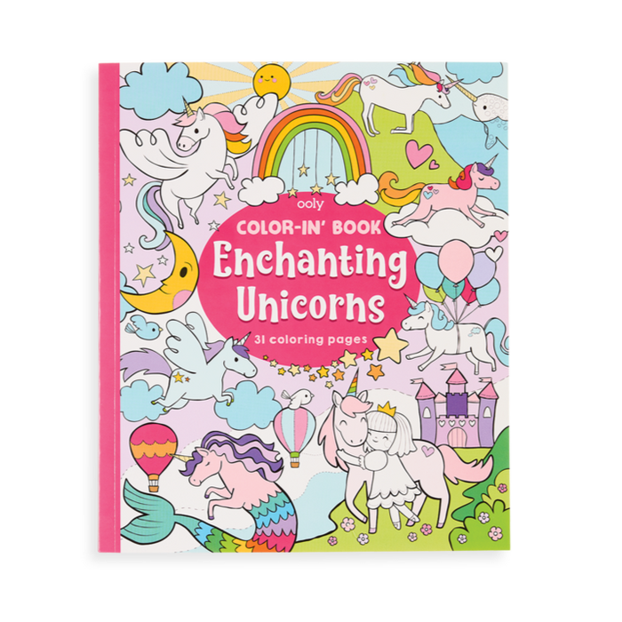 Color In Book - Enchanting Unicorns