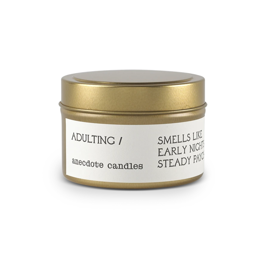 Adulting Travel Tin Candle