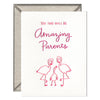 INK MEETS PAPER - Flamingo Parents - greeting card