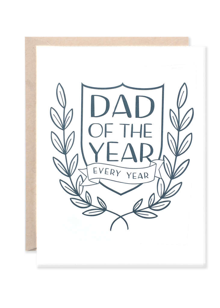 Lionheart Prints - Dad of the Year Greeting Card