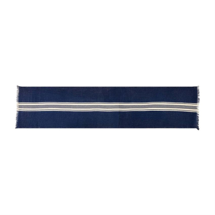 Fringe Navy Table Runner