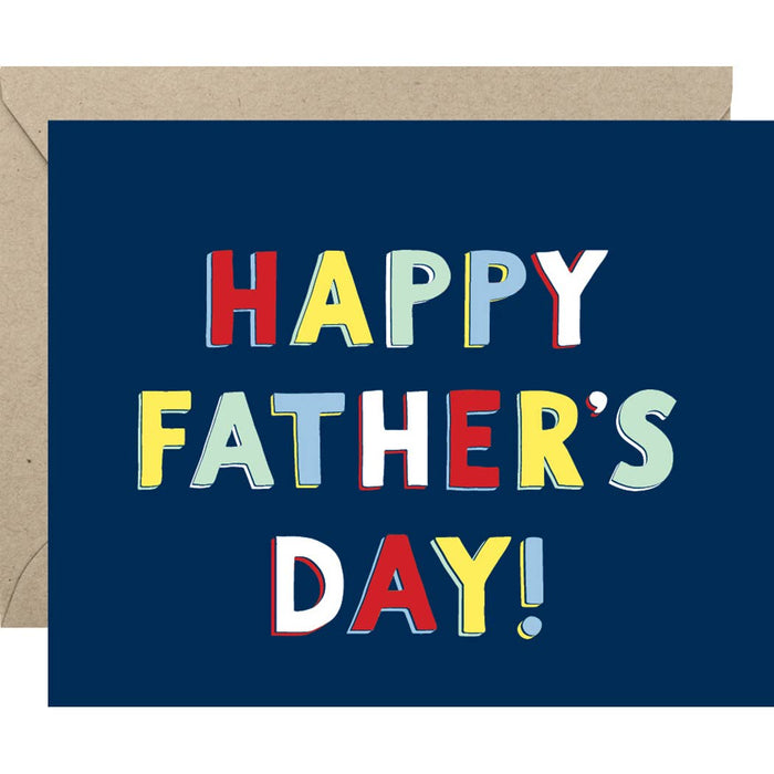 Colorful Father's Day A2 Single Card