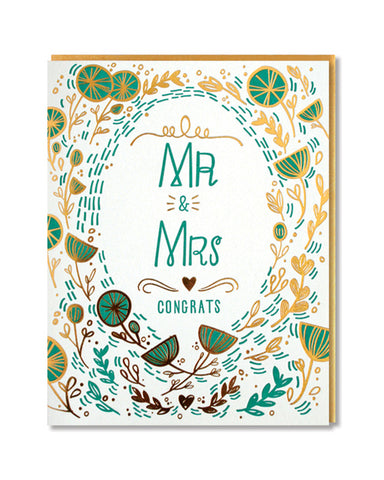 Paper Parasol Press - Mr & Mrs Card
