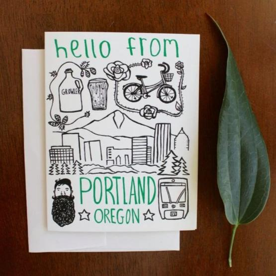 One Lane Road - Portland Oregon Greeting Card