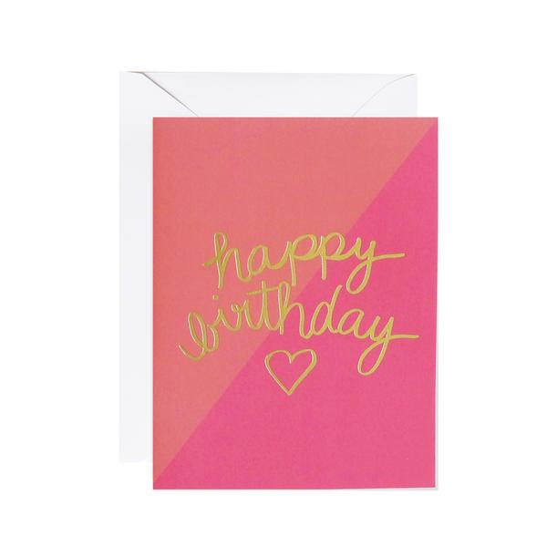 lake + loft / meant to be sent - Birthday Heart Greeting Card